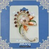 fashion shape a small plum blossom brooch with rhinestone