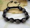 handmade wholesale crystal shabhala bracelets chain Hematite