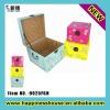 Antique Leather Square Storage Box
