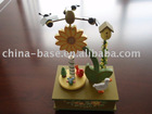 wooden music box,wooden decoration