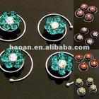 8 pcs flower crystals rhinestone Hair Pin Twist bridal(CHP-0003)