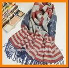new ear flag pattern pashmina shawl