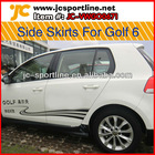2012 PU auto car parts GTI side skirts for VW Golf 6