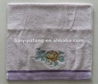 beautiful flower embroidery towels