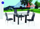 2012 space-saving glass metal dining set