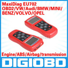 Engine, A/T, ABS, and Airbags for major European vehicles Global OBD II/EOBD coverage MaxiDiag EU702 CODE SCANNER