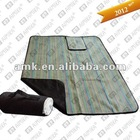 strip fleece picnic blanket