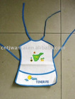 100% cotton baby bib with embroidery design