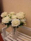 Bush White Rose Artifical flower