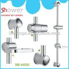 Leelongs Stainless Steel Siliding Shower Bar
