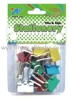 colours binder clips with bubble box