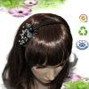 MJ-D-67 Delicate black flowers pearl crystal hair hoop/Pearl crystal hair hoop