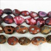 Novel! Window-cut, Extra-large, Agate Bead Loose Strand