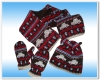 100% acrylic knitted hat scarf mitten/gloves set for winter