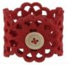felt napkin rings/ red felt napkin rings