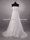 Graceful A-line Strapless Lace Ivory wedding gown