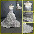 WR-022 Newest Halter Sweetheart Taffeta Wedding Gowns