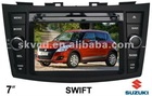 "(SUZUKI SWIFT) 7"" HD digital in-dash car DVD GPS player, with TV,radio, bluetooth, iPOD"