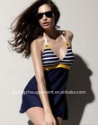 fashion design printing sexy women swimming dress 2012
