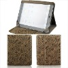 Folio style Rose grain PU leather case for ipad 2 sleeve