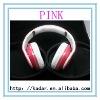 2012 Hotselling Noise Cancelling Headphones S tudio Headphones Sound Cancelling Pink