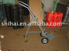 Medical hand trolley for 10L-40L gas cylinder