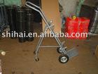 Medical hand trolley for 10L-40L gas cylinder