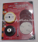 "6-pc 3"" Velcro Rolok Sanding Kit"