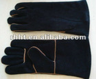 "14"" BLACK COW SPLIT LEATHER WELDING GLOVES"
