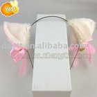 plush cat ear hair band for cosplay and party on wholesale b203