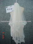 Fashional 2011 white long lace bridal veil V7