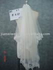 Fashional 2011 white long lace bridal veil V7