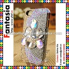 3D Rhinestone Cell Phone Cases for phone 4