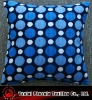 cushion cover, decorative, printed brushed velvet fabric