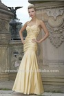 Mermaid Halter Sweetheart Neckline Ankle Length Taffeta Bridesmaid Dress BD090
