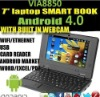 7 inch via8850 netbook mini laptop Cortex A9 1.5GHZ with HDMI