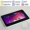 7 Inch Capacitive Screen HD 2160P Tablet PC, 1.5GHz CPU, 512MB Memory, Android 4.0 OS, Built-in camera