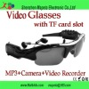 Video Glasses Sunglasses mp3 player hidden DV Recorder Camera with TF card slot