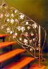 Modern fashion Luxury wrought iron stair railing