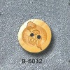 natural laser Bamboo button