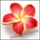 new wholesale and hot sale red handmade Polymer Clay Flower beads DIY for bohemian apparel 110583