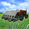 6 rows 1300-2000m2/h rice paddy transplanter