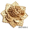 pu leather flower brooch with safety pin