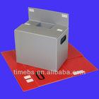 Corrugated plastic collapsible storage box