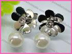 Offer Women's Favorite Floral Stud Eearrings Pearl Jewelry