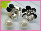 Offer Women's Favorite Floral Stud Eearrings Pearl Jewelry