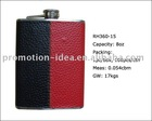 skin-wrapped hip flask set