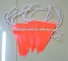 Orange PVC Safety flag/bunting flag