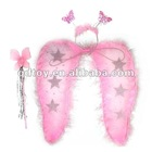 Pink feather fairy wing with star