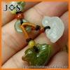 Natural Mandarin Duck Jadeite Jade Cell Phone Strap